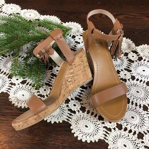 Boden | Tassel Cork Wedge Sandal 8